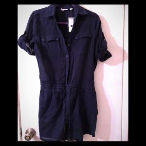Navy blue women's romper